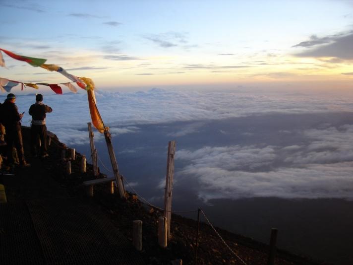 On the Mount Fuji 富士山