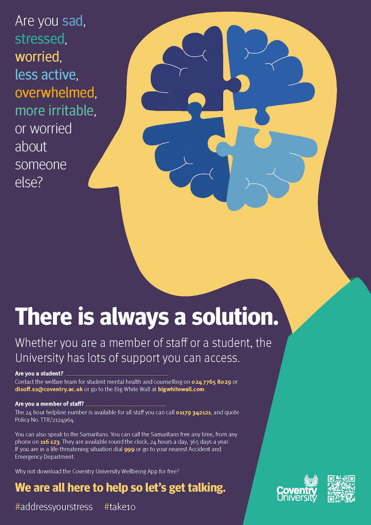 Coventry University Mental Health Campaign